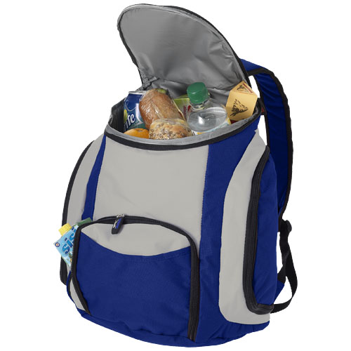 Trendy exclusive design cooler rucksack with several functional pockets. 600D of Polyester.